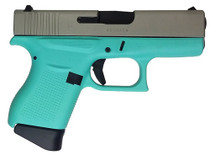 "Glock G43, 9mm, 3.39"" Barrel, 6rd, Robin Egg Blue"