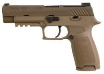 "Sig Sauer P320 M17, 9mm, 4.7"" Barrel, 10rd, Siglite, Coyote"