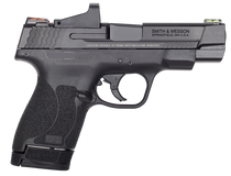 "Smith & Wesson Performance Center 9 Shield M2.0 9mm Double 4"" Barrel, Black Polymer Grip/Frame Black Armornite Stainless Steel Slide, 7rd/8rd"