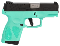"Taurus G2S, 9mm, 3.26"" Barrel, 7rd, Black Slide, Cyan"