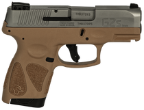 "Taurus G2S, 9mm, 3.26"" Barrel, 7rd, Stainless Slide, Tan"