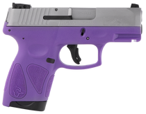 "Taurus G2S, 9mm, 3.26"" Barrel, 7rd, Stainless Slide, Dark Purple"