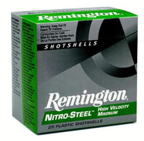 "Remington Nitro Steel Shotshells 12 Ga, 2.75"", 1.1oz, 2 Shot, 25rd/Box"