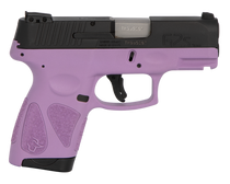 "Taurus G2S, 9mm, 3.26"" Barrel, 7rd, Black Slide, Purple"