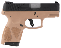 "Taurus G2S, .40 S&W, 3.26"" Barrel, 7rd, Black Slide, Tan"