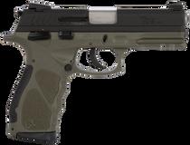 "Taurus TH9 Compact, 9mm, 3.54"" Barrel, 13rd/17rd, Black Slide, OD Green"
