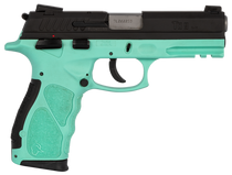 Taurus TH9 Compact, 9mm, 13rd/17rd, Black Slide, Cyan