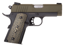 "Taurus 1911 Officer, .45 ACP, 3.5"" Barrel, 6rd, Green Slide, Black"