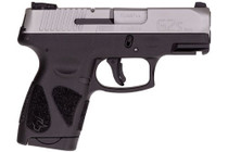 "Taurus G2S, 9mm, 3.26"" Barrel, 7rd, Stainless Slide, Black"