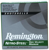 "Remington Nitro-Steel 12 Ga, 3"", 1375 FPS, 1.25oz, 3 Steel Shot, 25rd/Box"