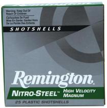"Remington Nitro-Steel 12 Ga, 3"", 1375 FPS, 1.25oz, 3 Steel Shot, 25rd/Box"