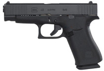 "Glock G48, 9mm, 4.17"" Barrel, 10rd, AmeriGlo Fiber Optic, Black"