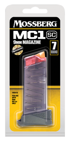 Mossberg MC1sc Magazine 9mm, Polymer Clear Finish, 7rd
