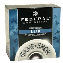 "Federal Game-Shok Heavy Field 12ga, 2.75"", 1-1/8oz, 8 Shot, 25rd/Box"