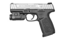 "Smith & Wesson SD9VE 9mm, 4"" Barrel, Duo Tone, Crimson CMR-209 Tac Light, 16rd Mag"