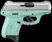 Ruger Ec9s 9mm 3.12 7rd Aluminum Cerakote/Turquoise