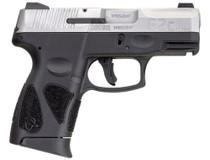 "Taurus G2c .40 S&W, 3.2"" Barrel, Black Polymer Grip, Stainless Steel Slide, 10rd"