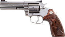 "Colt King Cobra Target Revolver, 357 Magnum/38 Special, 4.25"" Barrel, Steel Frame, Stainless Finish, Altamont Wood Grips, 6Rd"