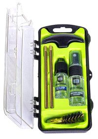 Breakthrough Clean Technologies Vision Series, Cleaning Kit, For 44/45 Cal, Includes Cleaning Rod Sections, Hard Bristle Nylon Brushes, Jags, Patch Holders, Cotton Patches, Durable Aluminum Handle And Mini Bottles of Breakthrough Military-Grade Solvent A
