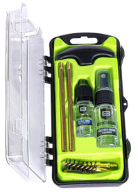 Breakthrough Clean Technologies Vision Series, Cleaning Kit,For 40 Cal/10MM, Includes Cleaning Rod Sections, Hard Bristle Nylon Brushes, Jags, Patch Holders, Cotton Patches, Durable Aluminum Handle And Mini Bottles of Breakthrough Military-Grade Solvent A