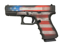 "Glock 19 Gen4 9mm, 4"" Barrel, Battleworn USA Flag, 15rd"