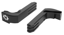 Cross Armory Extended Magazine Catch Compatible with P80 & Glock Gen1-3 Aluminum Black Anodized