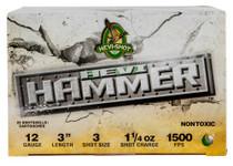 "HEVI-Shot Hevi Hammer 12 Ga, 3"", 3 Shot, 1 1/4oz, 25rd/Box"