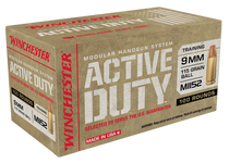 Winchester Active Duty 9mm 115gr, Milspec, M152, 100rd/Box