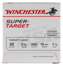 Winchester Super-Target 12 Ga, 7.5 Shot, 1oz, 25rd/Box, 13507