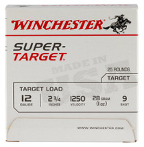 Winchester Super-Target 12 Ga, 9 Shot, 1oz, 25rd/Box, 12509