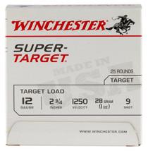Winchester Super-Target 12 Ga, 9 Shot, 1oz, 25rd/Box, 12509