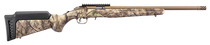 "Ruger American Rimfire Standard 22 LR, 18"" Threaded Barrel, Bronze, Camo, 9rd"