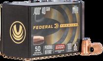 Federal Bullets .400 180gr 40SW/10mm, HS, 50rd/Box