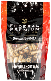 Federal Gold Medal Unprimed Brass 270 WSM, 50rd/Bag