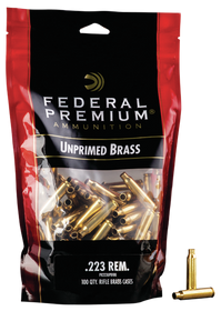 Federal Gold Medal Unprimed Brass 223, 100rd/Bag