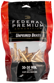 Federal Gold Medal Unprimed Brass 30-30, 50rd/Bag