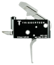 TriggerTech Adaptable Primary with Bolt Release AR-Platform Two Stage Flat 2.50-5.00 lbs, Metal Finish