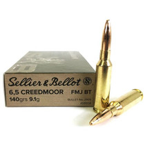 Sellier & Bellot 6.5 Creedmoor, 140gr, FMJ, BT, 20rd Box