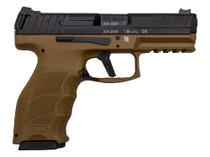 "HK VP9 LWG Custom 9mm 4"" Barrel FDE Frame Wilson Night Sights 2- 15rd Mags"