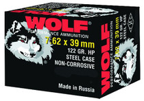 Wolf Performance 7.62x39mm, Hollow Point, 123gr, 1000rd/Case