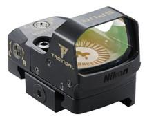 Nikon P-Tactical Spur 1x 27x16mm Obj 3 MOA Red Dot, Black Matte CR1632 Lithium (1)