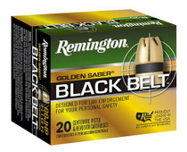 Remington Golden Saber Black Belt 40 S&W 165gr, Jacketed Hollow Point, 20rd/Box