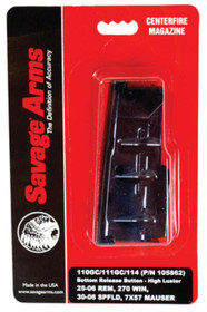 Savage Magazine Box Bottom Release 116C/114 Stainless .7mm Rem Mag/.338 Winchester Magnum 3 Rounds Stainless Steel