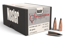 Nosler Varmageddon Reloading Bullets 6.5mm .264 90gr, Hollow Point Flat Base Tipped 100/Box