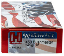 Hornady American Whitetail 450 Bushmaster 245gr, InterLock, 20rd/Box