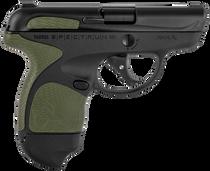 "Taurus Spectrum 380 ACP, 2.8"" Barrel, Black, Green Overmold, 6rd"