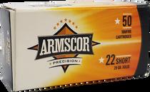 Armscor 22 Short 29gr, Soft Point, 50rd/Box