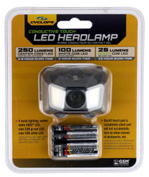 Cyclp Headlamp W Green Cob Led