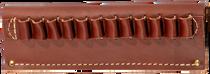 Hunter Handgun Cartridge Belt Slide with 12 Loops, Leather Brown 45 Cal
