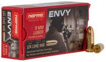 Norma Carbine Envy 9mm 124Gr, Envy, 50rd Box